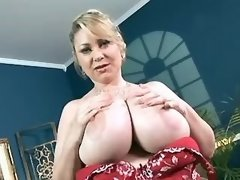 Fat mature sucks cock and titsfucks