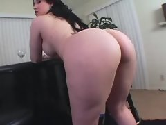 Brunette BBW caresses her fat pussy