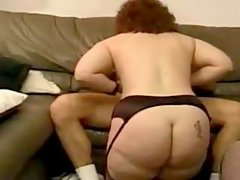 Plump hottie poked by handsome stud